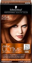 Schwarzkopf Ultime Hair Color Cream, 5.84 Chocolate Copper, 2.03 Ounce