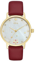 Kate Spade Metro Libra Stainless Steel Analog Leather Strap Watch