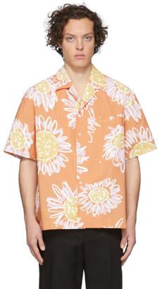 Jacquemus Orange La Chemise Jean Short Sleeve Shirt