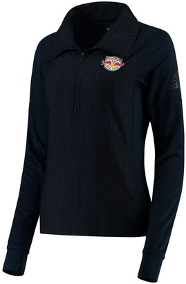 adidas Women's Navy New York Red Bulls Logo Driven 2.5 Quarter-Zip Pullover Jacket