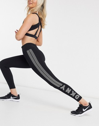 DKNY high waist 7/8 legging with track logo