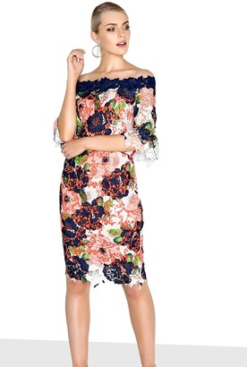 Paper Dolls Bloom Bardot Dress
