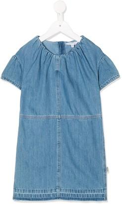 Little Marc Jacobs pleated denim T-shirt dress