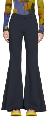 Sunnei Blue Flare Trousers