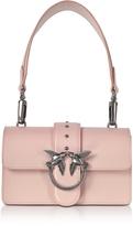 Pinko Mini Love Antique Pink Leather Shoulder Bag
