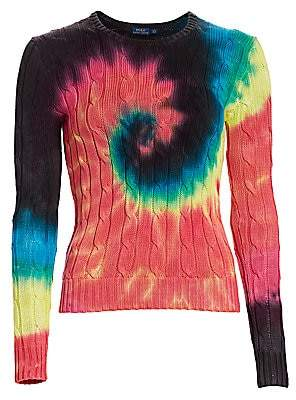 Polo Ralph Lauren Women's Tie Dye Long Sleeve Cotton Sweater