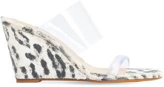 Maryam Nassir Zadeh 100mm Leopard Print Pvc Sandals