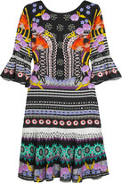 Temperley London Cherise Printed Stretch-jersey Mini Dress - Black