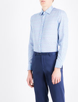 Etro Micro floral-patterned tailored-fit cotton shirt