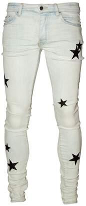 Leather Stars Stack Jeans Bone Indigo