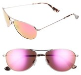 Maui Jim Women's Baby Beach 56Mm Mirrored Polarizedplus2 Aviator Sunglasses - Rose Gold/ Maui Sunrise