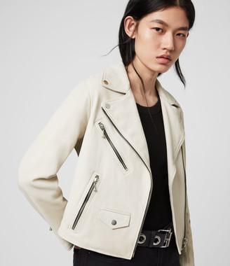 AllSaints Riley Leather Biker Jacket