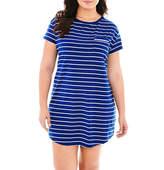 Liz Claiborne Short-Sleeve Nightshirt - Plus