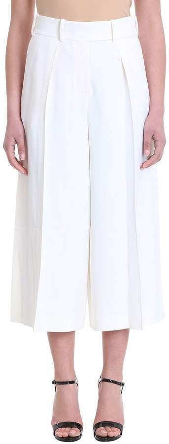 Alexandre Vauthier Gaucho White Viscose Trousers
