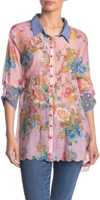 Aratta Wonder Happiness Front Button Floral Print Shirt
