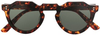 Lesca Pica flat-top round-frame sunglasses