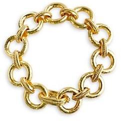 Elizabeth Locke Ravenna 19K Yellow Gold Link Bracelet