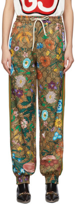 Gucci Brown GG Flora Lounge Pants
