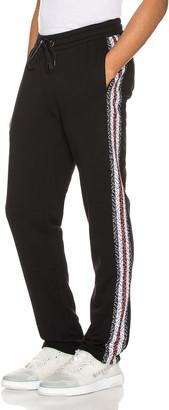 Burberry Arnold Monogram Stripe Sweatpant in Black | FWRD