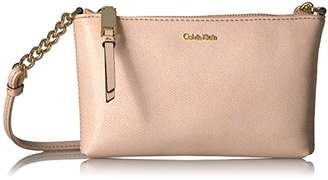 Calvin Klein Hayden Key Item Saffiano Top Zip Chain Crossbody