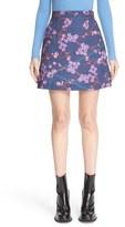 Carven Floral Print A-Line Miniskirt