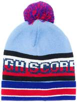 Tommy Hilfiger colour-block beanie hat