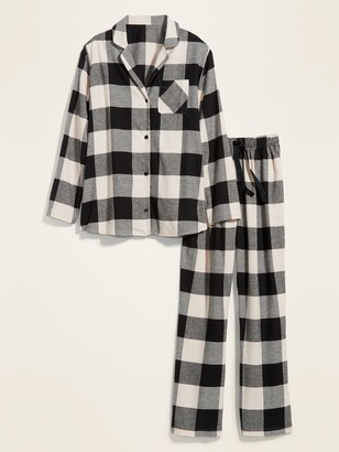 Old Navy Patterned Flannel Plus-Size Pajama Set