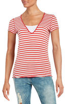 Free People Striped Cotton Tee