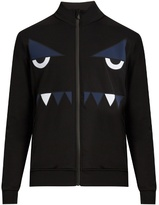 Fendi Bag Bugszip-through Nylon Sweatshirt