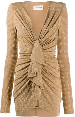 Alexandre Vauthier Ruffle Front Mini Dress