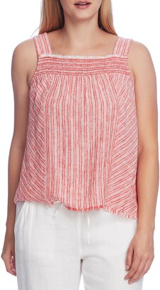 Vince Camuto Sleeveless Modern Stripe Blouse