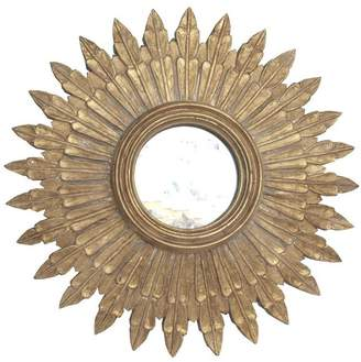 Worlds Away Gold Leaf Handcarved Mirror