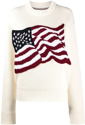 Tommy Hilfiger American flag knitted jumper