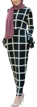 Urban Modesty Women's Bold Line Jersey Maxi Dress