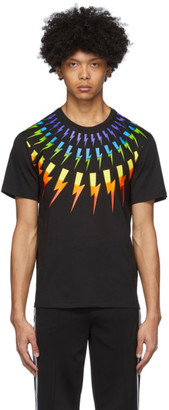 Neil Barrett Black Fair Isle Thunderbolt T-Shirt
