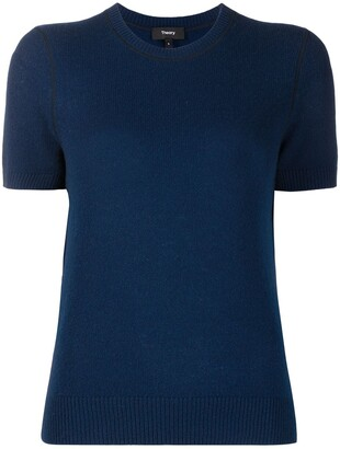 Theory Trimmed Short-Sleeved Pullover