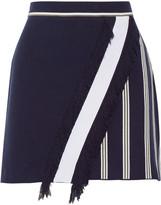 Tanya Taylor Andy striped jacquard-knit skirt