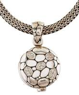 John Hardy Classic Chain Kali Diamond Locket Necklace