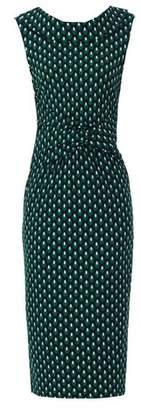 Dorothy Perkins Womens *Jolie Moi Green Geometric Print Collar Pencil Dress, Green