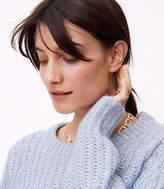 LOFT Pave Rectangle Link Necklace