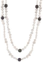 Bella Pearl White & Black Pearl Keshi Endless Necklace
