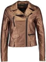 Vero Moda VMSAFRA SHORT Faux leather jacket copper