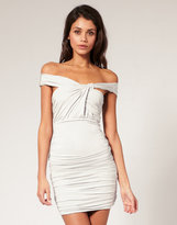 ASOS Slinky Body-Conscious Dress with Knot Twist Detail