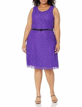 Star Vixen Women's Plus-Size Elbow Sleeve Bodycon Triple Keyhole Cutout Short Dress