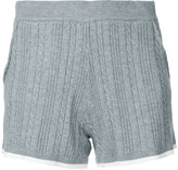 GUILD PRIME contrast trim shorts - women - Cotton/Nytril/Rayon - 34
