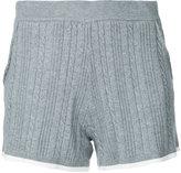 GUILD PRIME contrast trim shorts - women - Cotton/Rayon/Nytril - 34