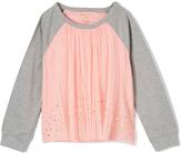KensieGirl Pink & Gray Glitter Raglan Tee - Toddler & Girls