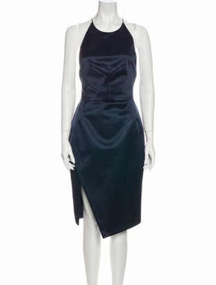 Nicholas Silk Midi Length Dress Blue