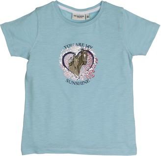 Salt&Pepper Salt and Pepper Girl's T-Shirt Horses uni Herz