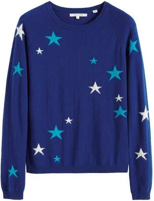 Parker Chinti & Blue Tonal Star Cashmere Sweater